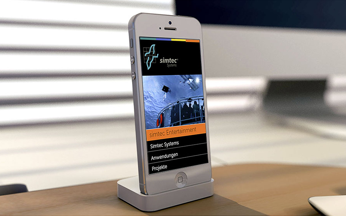 Simtec Website iPhone