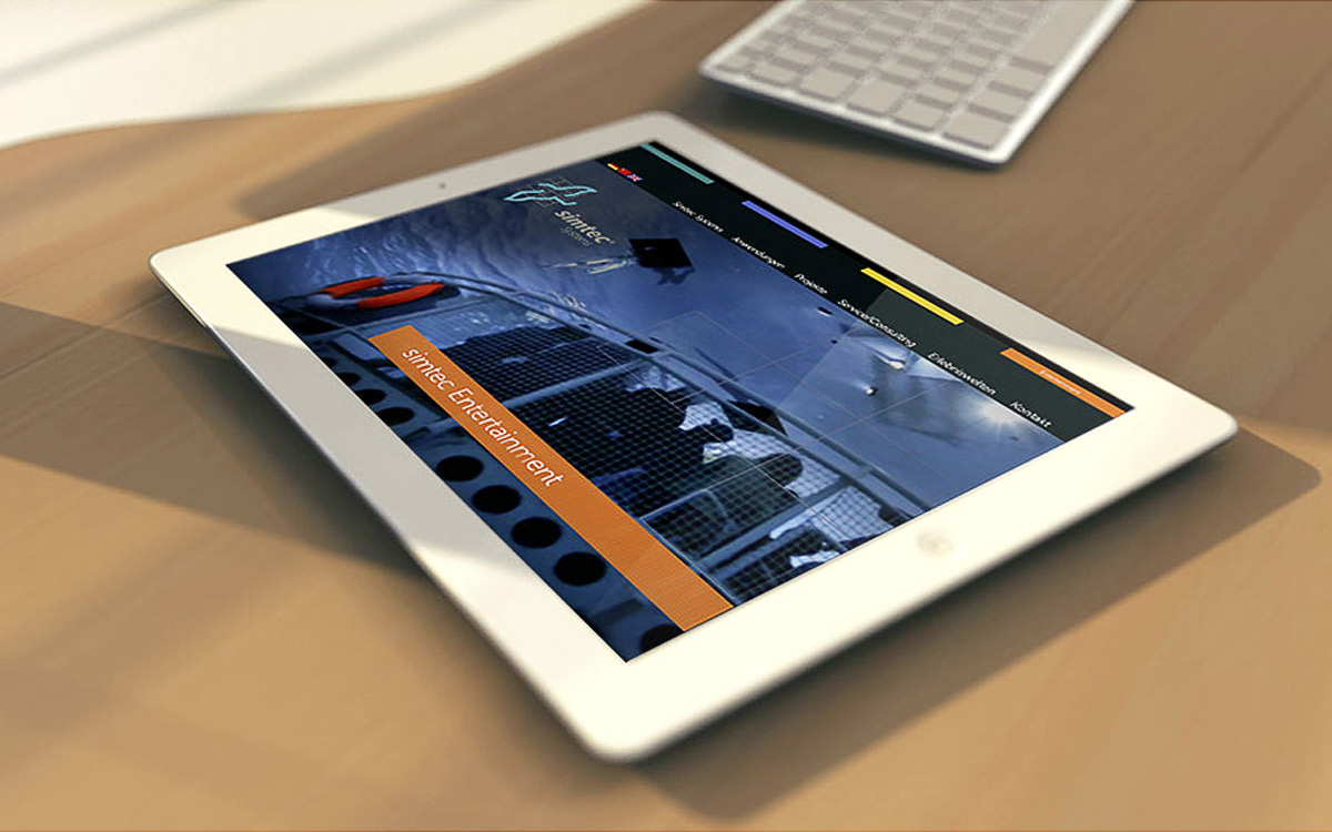 Simtec Website iPad
