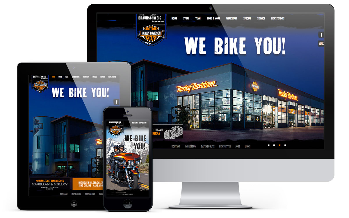 Harley Davidson Website