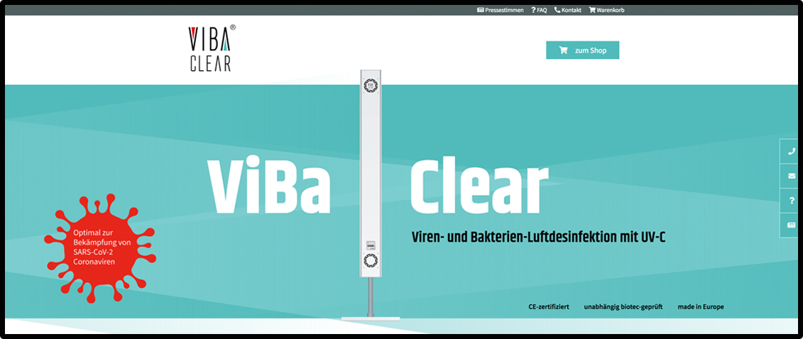VibaClear-Webshop